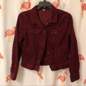 Red Corduroy Old Navy Jacket